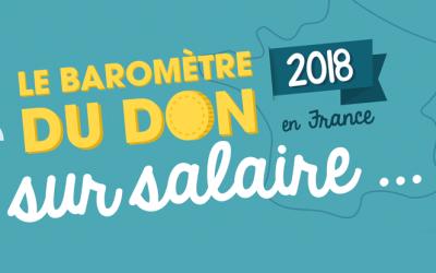 [Infographie] Baromètre don sur salaire 2018